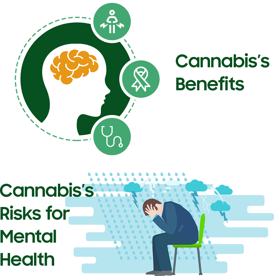 Cannabis's Benefits & Risks for the Mental Health