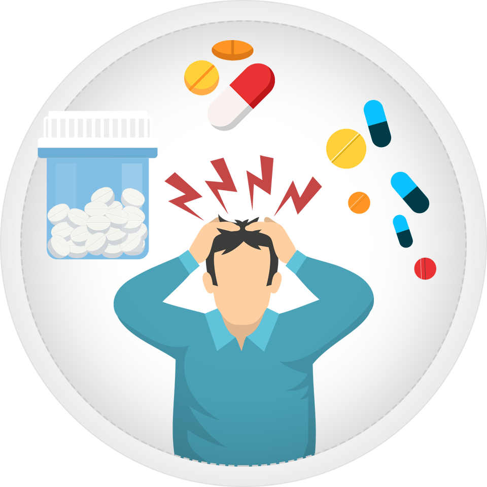 Side effects of benzodiazepine